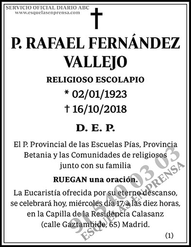 Rafael Fernández Vallejo